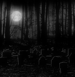 Gazing the Beauty of Moonlight from the Graveyard